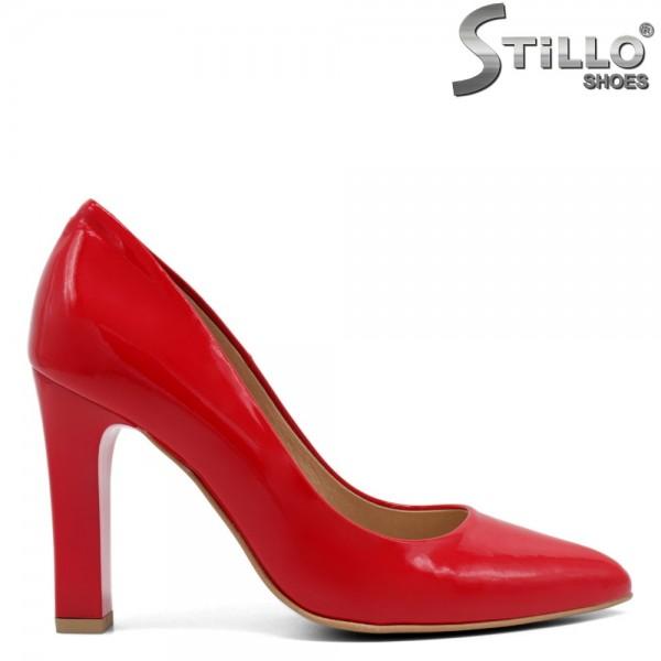 Pantofi dama din lac natural - 32437