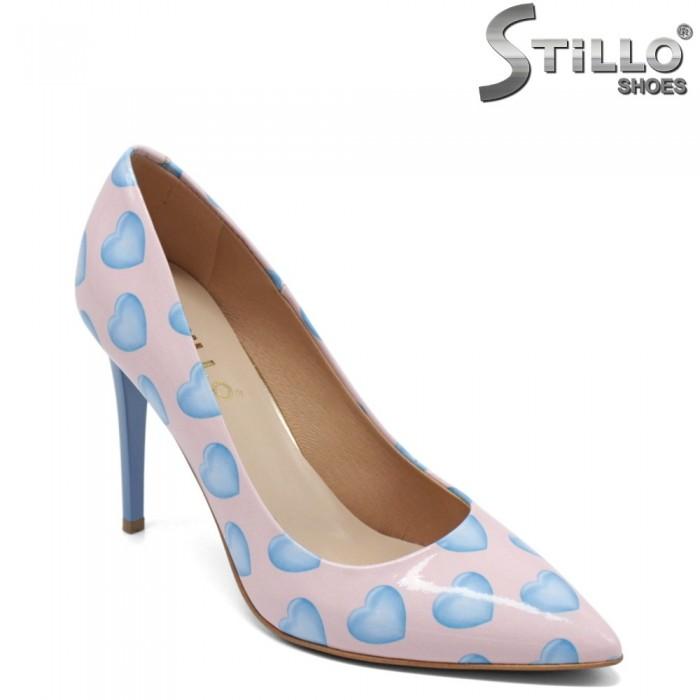 Pantofi dama eleganti din lac natural - 32439