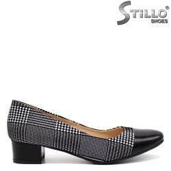 Pantofi dama de culoare pepit din piele naturala - 32443
