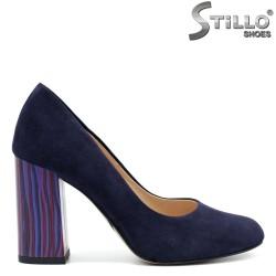 Pantofi dama  din velur natural cu toc inalt - 32456