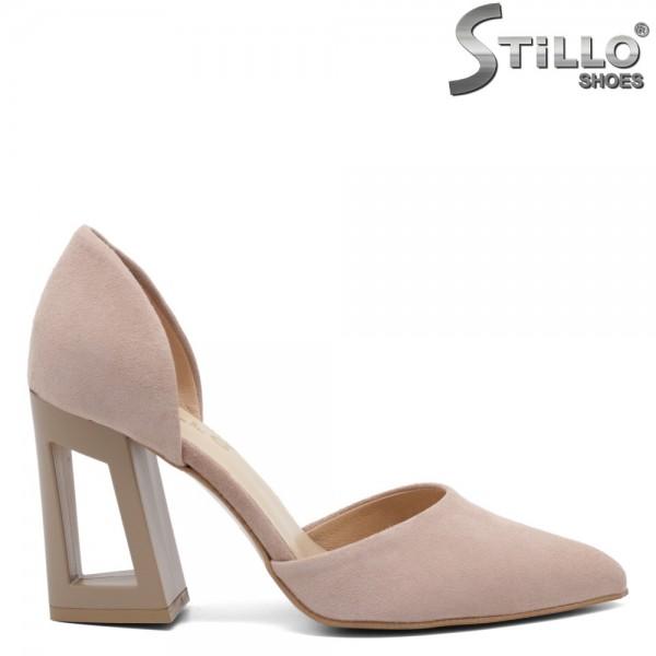 Pantofi dama din velur natural - 32459