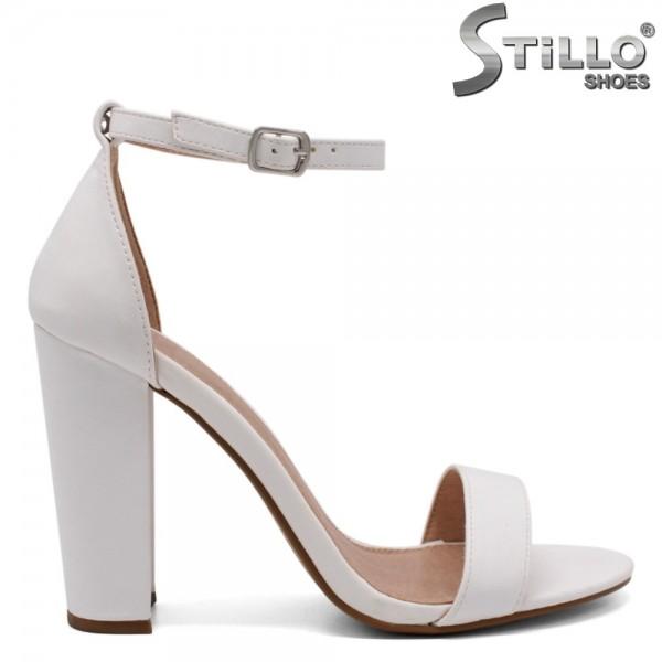 Sandale dama din piele ecologica cu toc inalt - 32477