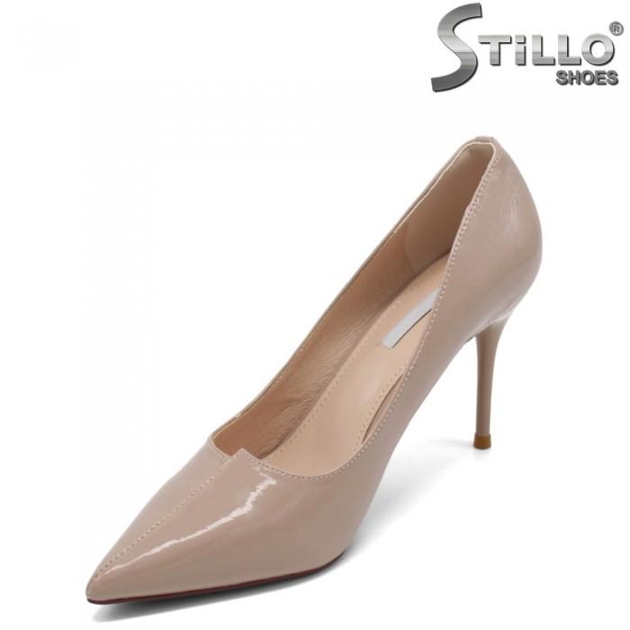 Pantofi dama eleganti din lac cu toc inalt - 32480