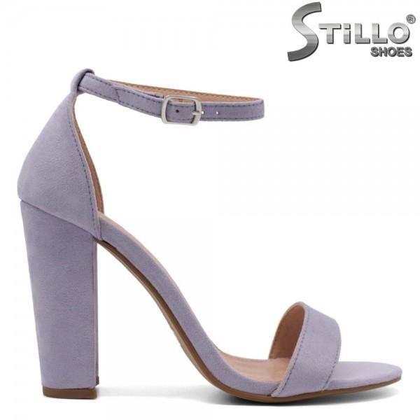Sandale dama din velur ecologic cu toc inalt - 32484