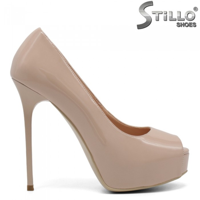 Pantofi dama cu toc inalt si platforma - 32509