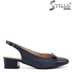 Pantofi dama din velur cu toc jos - 32523