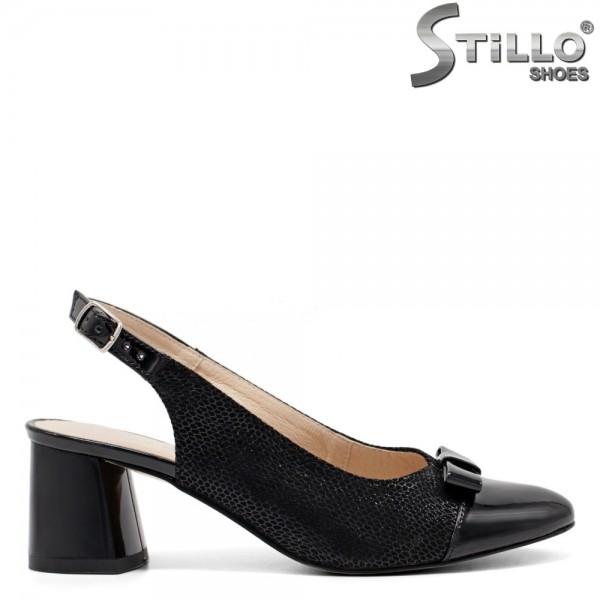 Pantofi dama din velur natural cu stampa tip sarpe - 32527