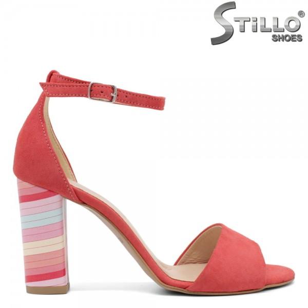 Sandale dama colorate din velur natural - 32530
