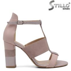 Sandale dama  din velur natural - 32533