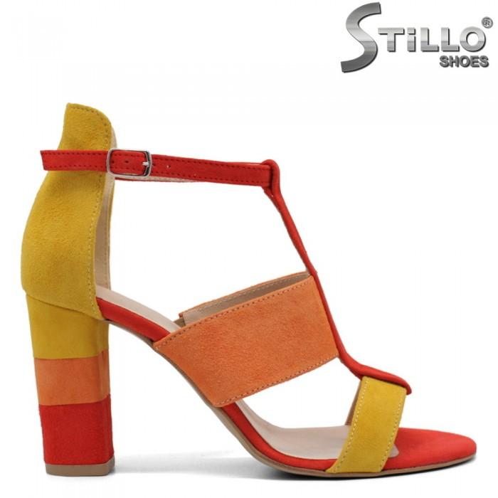 Sandale dama  colorate din velur natural - 32537