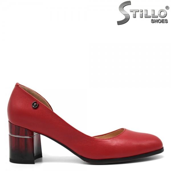 Pantofi dama cu toc mijlociu din piele naturala- 32547