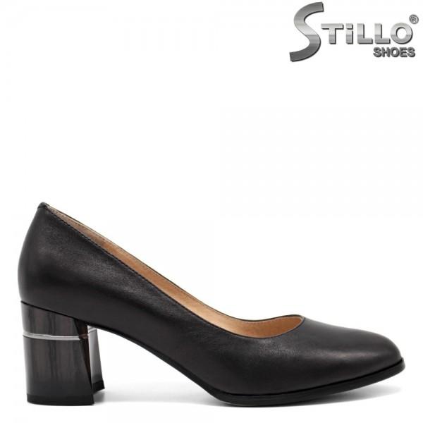 Pantofi dama din piele naturala si cu toc mijlociu - 32550