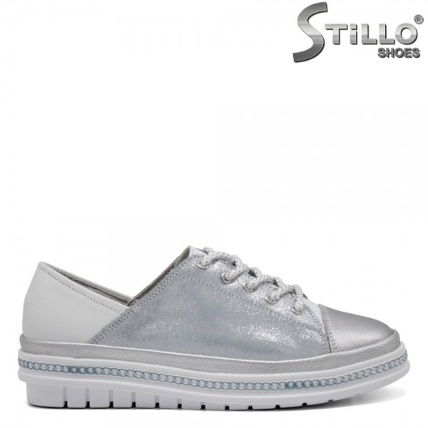 Pantofi dama tip sport cu sireturi - 32556