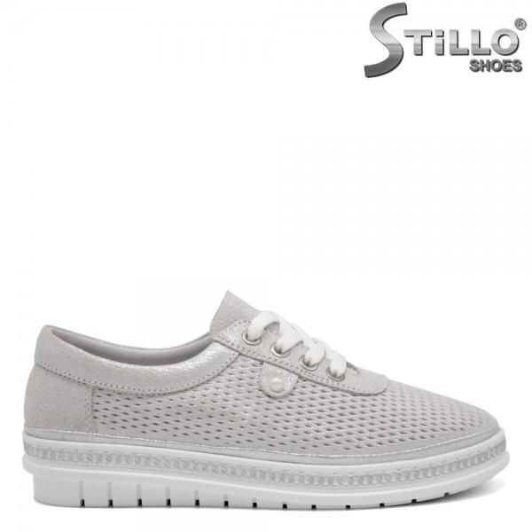 Pantofi dama tip sport de culoare gri - 32559