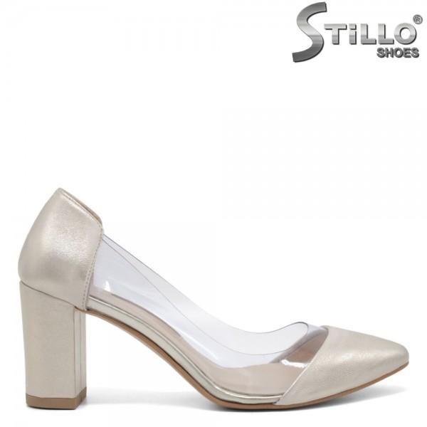 Pantofi dama din piele naturala cu silicon - 32562