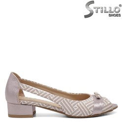 Pantofi dama cu toc jos din piele naturala - 32569