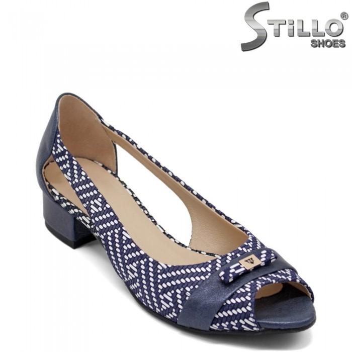 Pantofi de vara din piele naturala de culoare pepit - 32470