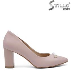 Pantofi dama de culoare roz din piele naturala - 32572