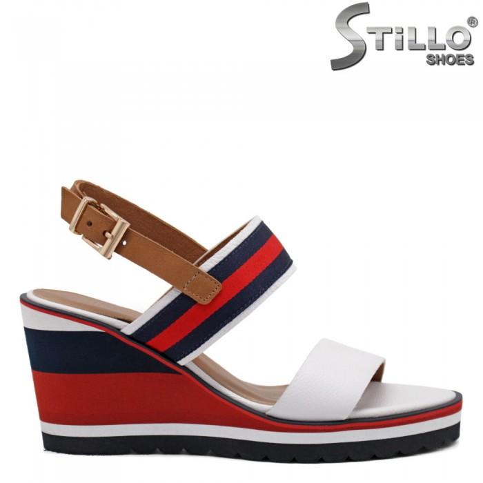 Sandale dama pe platforma din piele naturala - 32573