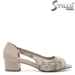 Pantofi de vara de culoare bej - 32583