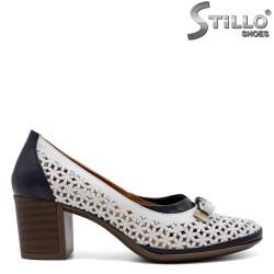 Pantofi dama cu perforatie din piele naturala-32598