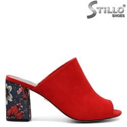 Papuci dama de culoare rosu - 32610