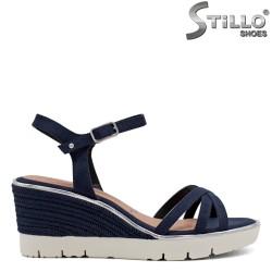 Sandale dama platforma de culoare albastru - 32613