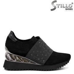 Pantofi dama din velur ecologic - 32618