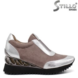 Pantofi dama sport pe platforma - 32619