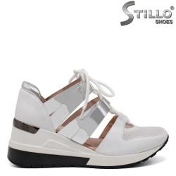Pantofi dama sport de culoare alb - 32624