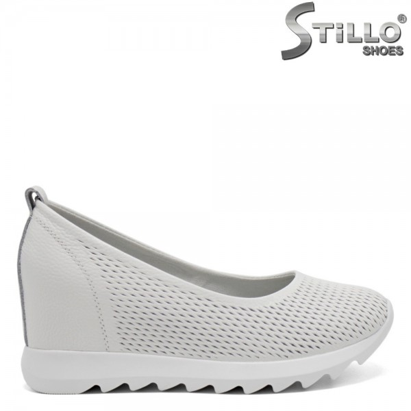 Pantofi dama de culoare alb din piele naturala - 32628