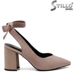 Pantofi dama de culoare scrum de trandafiri - 32632