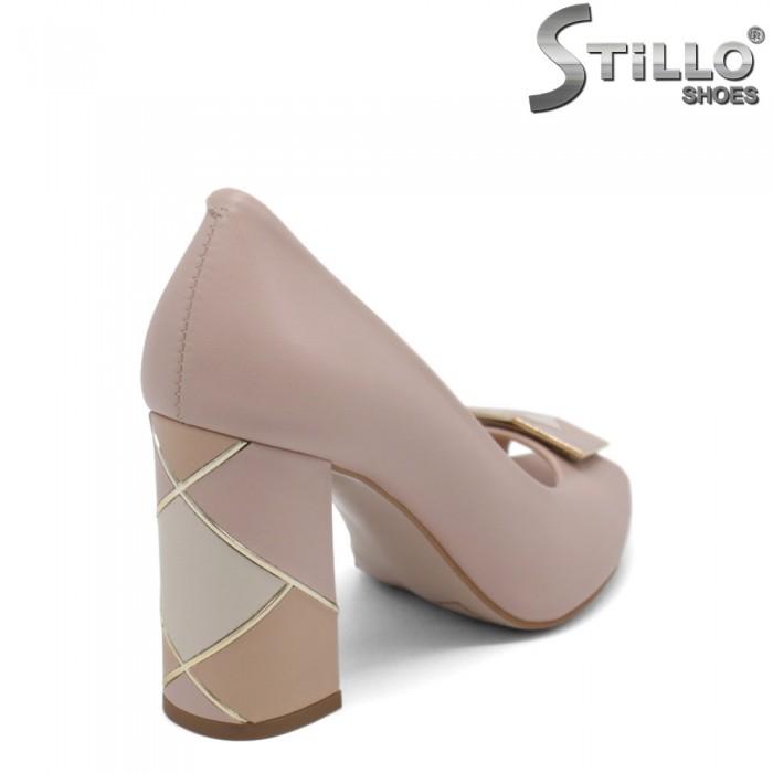 Pantofi dama din piele naturala cu partea din fata decupata - 32643