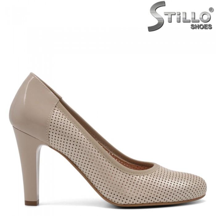 Pantofi dama din lac natural - 32644