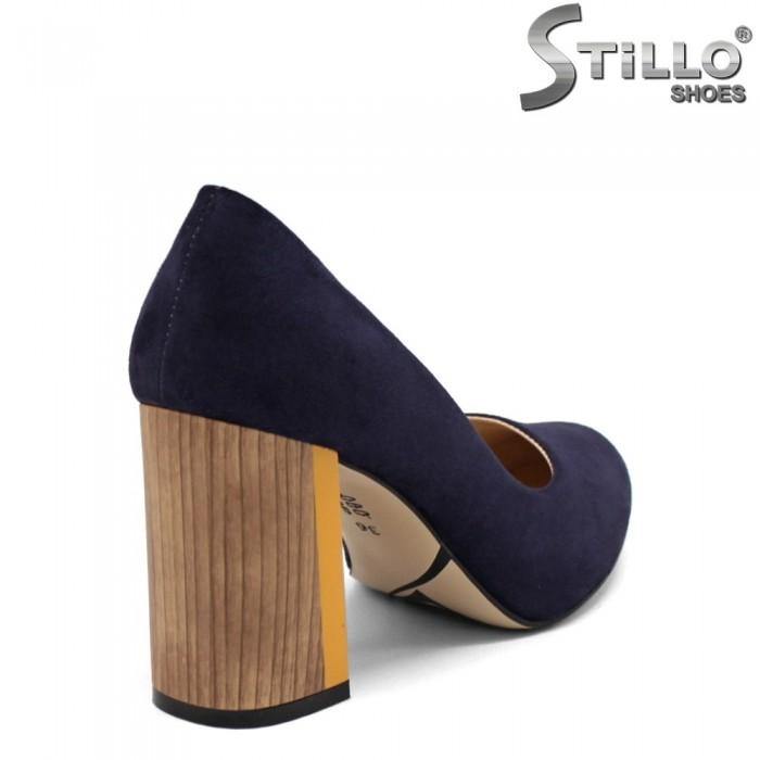 Pantofi dama din velur cu toc inalt -32649