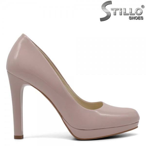 Pantofi dama din lac natural-32653