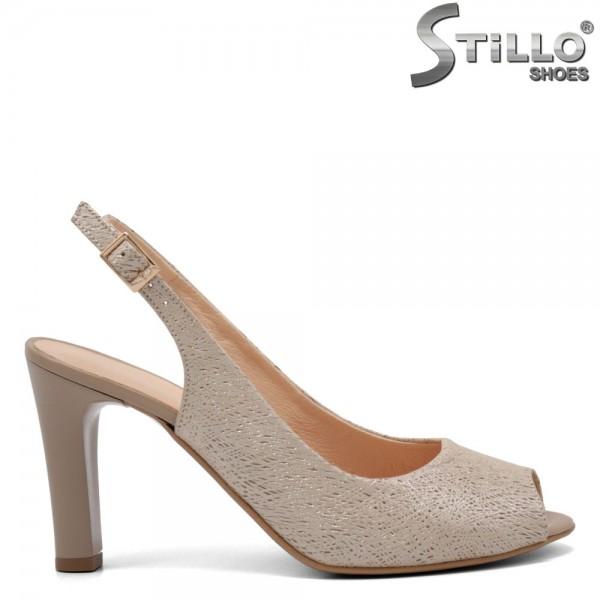 Sandale dama cu partea din fata si spate decupata de culoare auriu - 32660