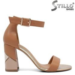 Sandale dama cu toc inalt de culoare maron - 32663