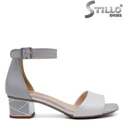 Sandale de vara cu toc jos din piele naturala - 32670