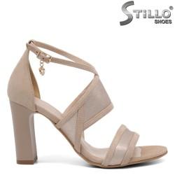 Sandale dama combinate velur si piele- 32672