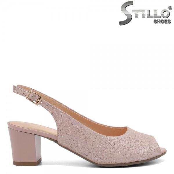 Sandale de vara din piele naturala de culoare roz- 32674