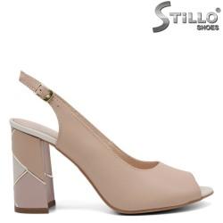 Sandale dama de culoare roz cu toc - 32676
