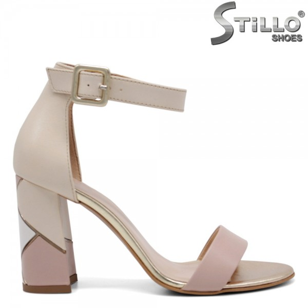 Sandale dama cu toc din piele naturala - 32677