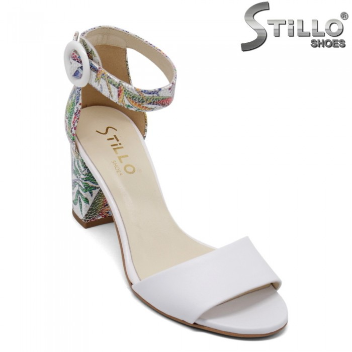 Sandale dama cu motive florale  - 32678