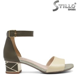 Sandale dama cu toc jos - 32679