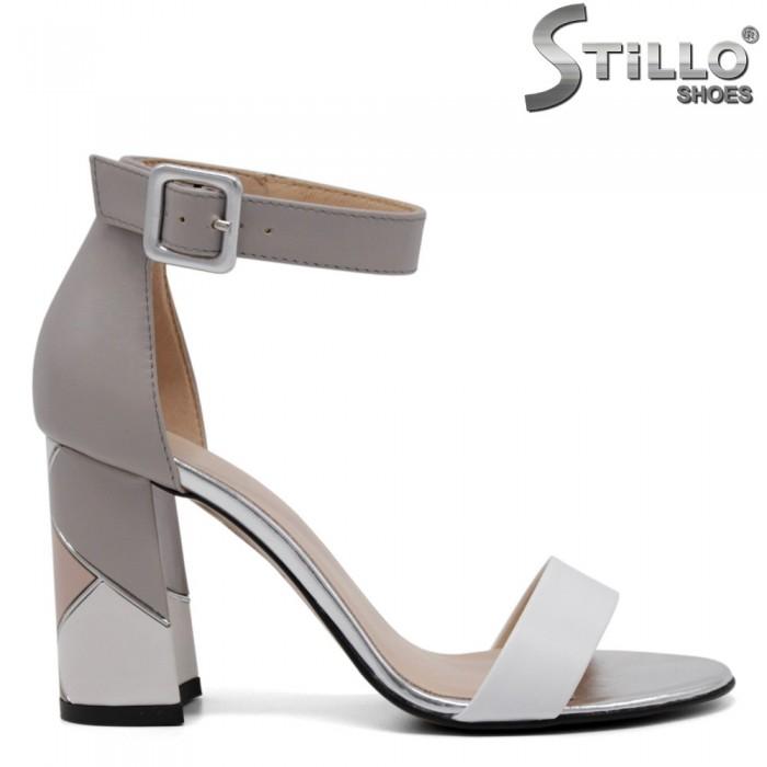 Sandale dama din piele naturala cu toc inalt - 32681