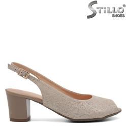Sandale dama cu toc de culoare aurii - 32683