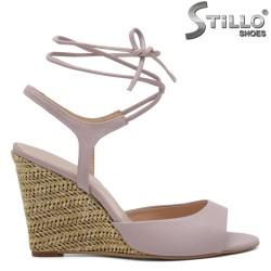 Sandale dama cu sireturi din piele naturala - 32684