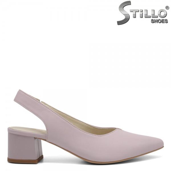 Pantofi dama cu toc jos partea din spate decupata - 32688