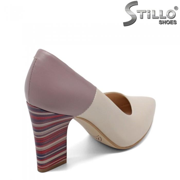 Pantofi dama cu toc in dungi inalt - 32690